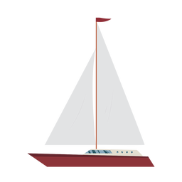 Cruising yacht ship icon