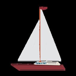 Icono de barco de yate de crucero