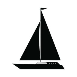 Crucero yate barco silueta