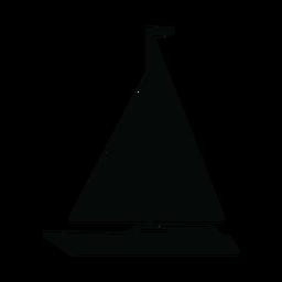Cruising yacht ship silhouette