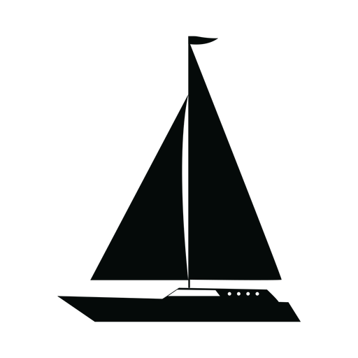 Cruising yacht ship silhouette Transparent PNG