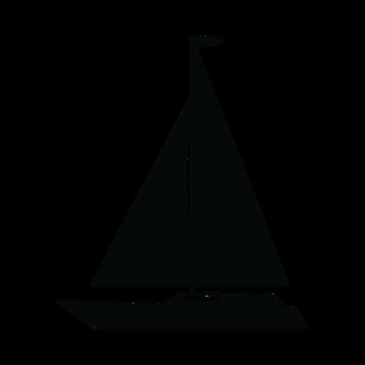 Silhueta de barco iate de cruzeiro Transparent PNG