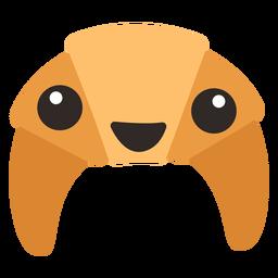 Cute croissant emoji