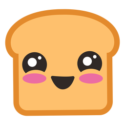 Cute toast emoji