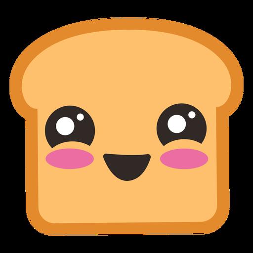 Cute toast emoji Transparent PNG