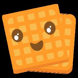 Cute waffle emoji