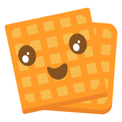 Emoji lindo de gofres Transparent PNG