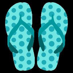 Dots pattern flip flops