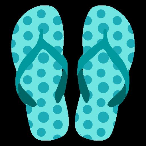 Flop flops patrón de puntos Transparent PNG