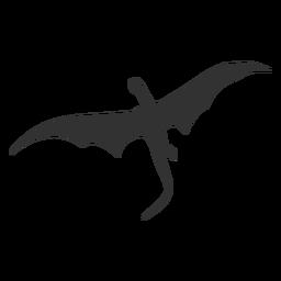 Silhueta de vista inferior de dragão