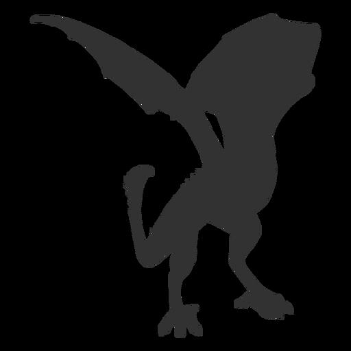 Silueta de aleteo de dragón Transparent PNG