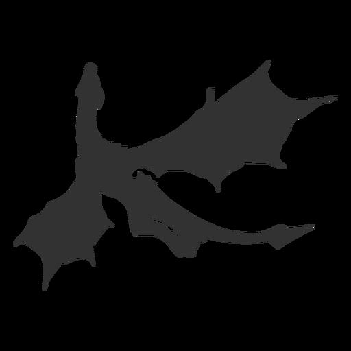Silueta de vuelo de dragon Transparent PNG