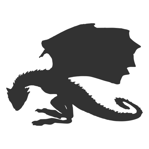 Dragon side view silhouette Transparent PNG