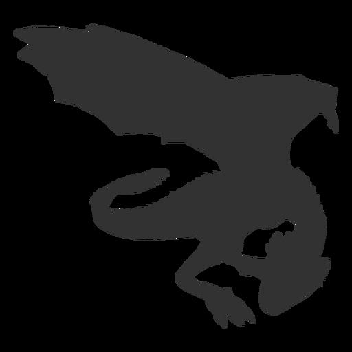 Silueta de pie de dragón Transparent PNG