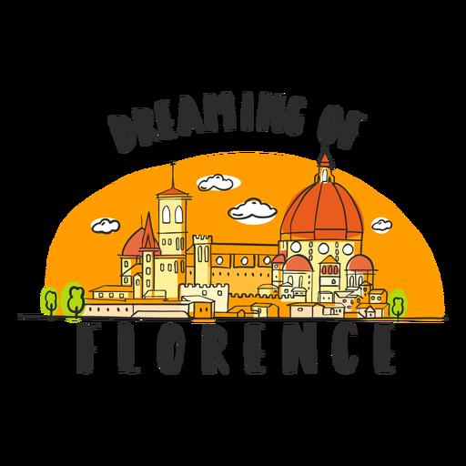 Dreaming florence skyline cartoon Transparent PNG