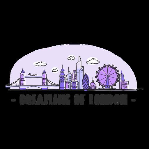 Träumen von London-Skylinekarikatur Transparent PNG