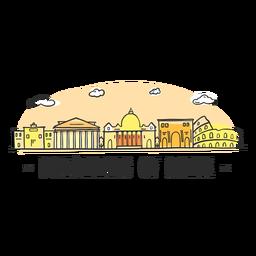 Träumen von Rom-Skylinekarikatur