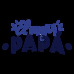 El mejor papa Schriftzug