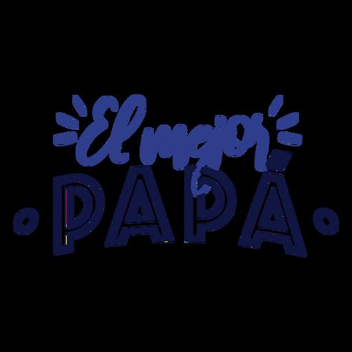El mejor papa Schriftzug Transparent PNG