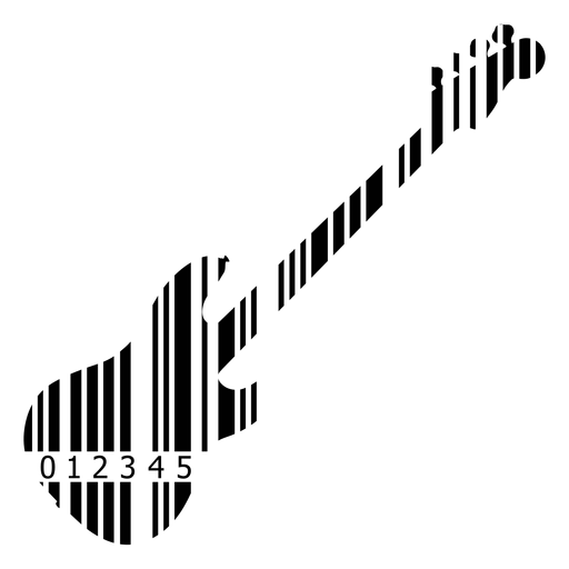 Código de barras guitarra elétrica Transparent PNG