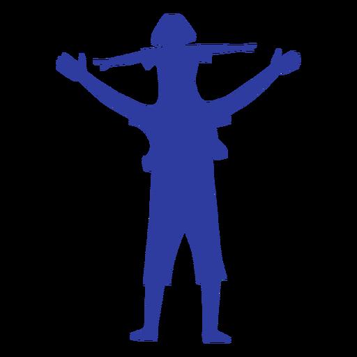 Pai filha, ligado, ombros, silueta Transparent PNG