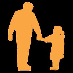 Silueta de padre e hija