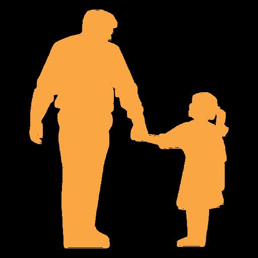 Silueta de padre e hija Transparent PNG