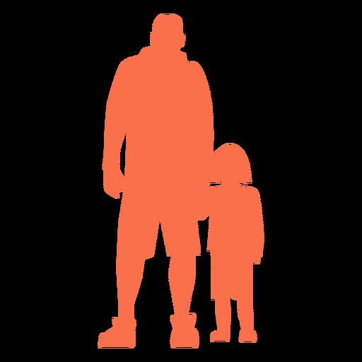 Padre e hija de pie silueta Transparent PNG