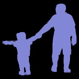 Silueta de padre e hijo