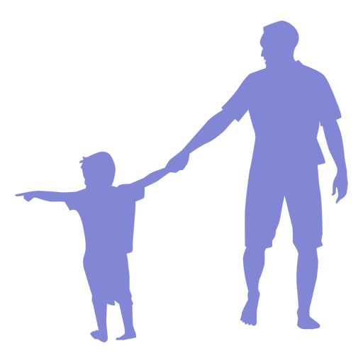 Vater und Sohn Silhouette Transparent PNG