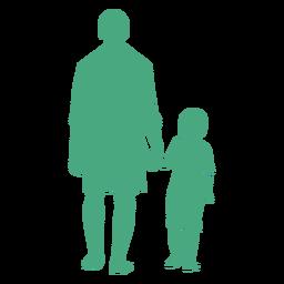 Gehendes Schattenbild des Vaters und des Sohns