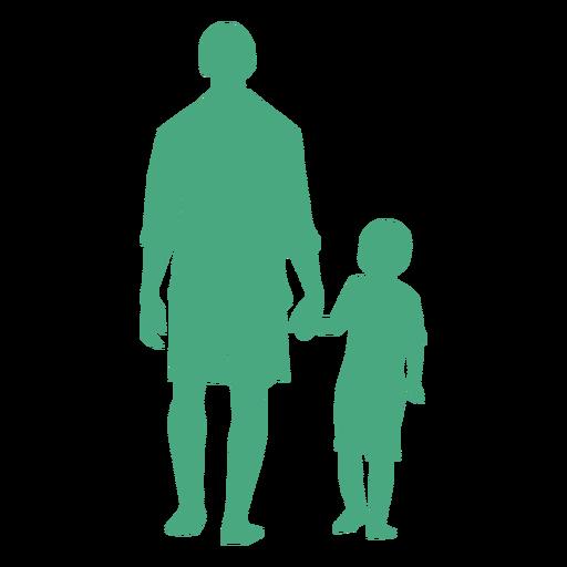 Pai e filho caminhando silhueta Transparent PNG