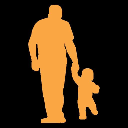 Gehendes Schattenbild des Vaters und des Kleinkindes Transparent PNG