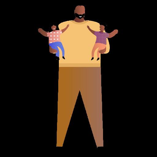 Vater hält zwei Babys Transparent PNG