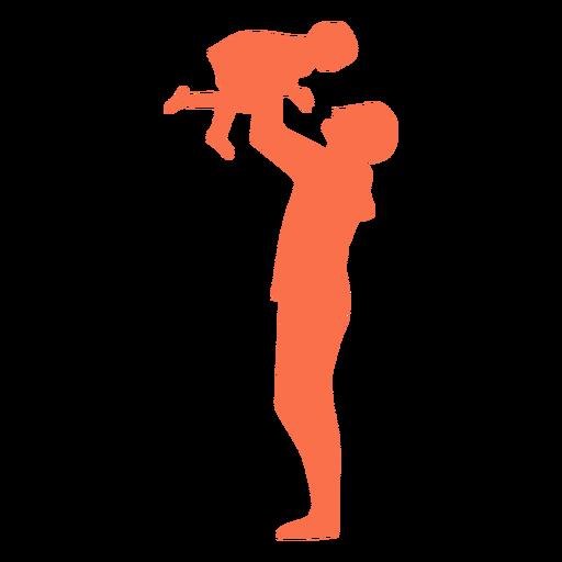 Vater Tochter Silhouette heben Transparent PNG
