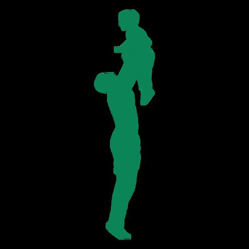 Vater Sohn Silhouette heben Transparent PNG