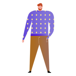 Father standing illustration