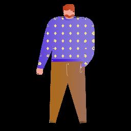 Ilustración de pie padre