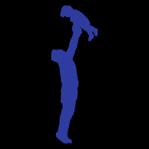 Vater Sohn Silhouette werfen Transparent PNG