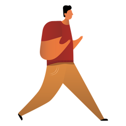 Father walking illustration