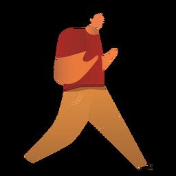 Padre caminando ilustración