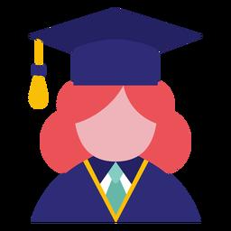 Avatar de pós-graduação feminino