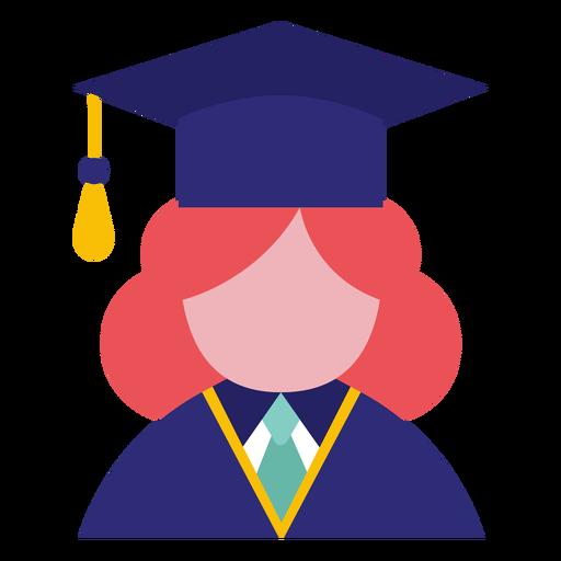 Avatar de pós-graduação feminino Transparent PNG