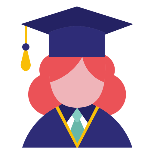 Female graduate avatar Transparent PNG