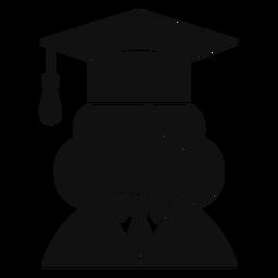 Avatar de pós-graduação feminino plana