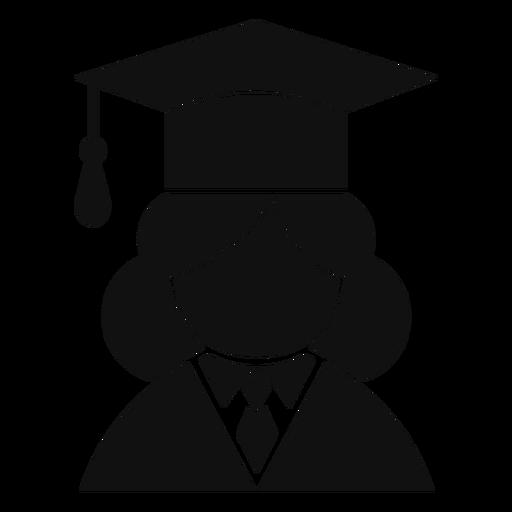 Avatar graduado femenino plano