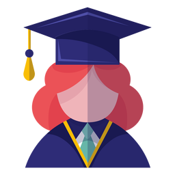 Female graduate avatar icon