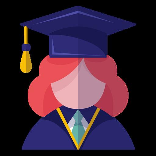 Female graduate avatar icon Transparent PNG
