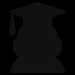 Silhueta de avatar de pós-graduação feminino