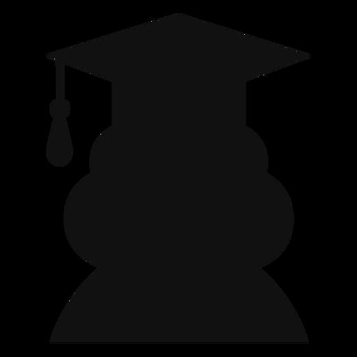 Female graduate avatar silhouette Transparent PNG